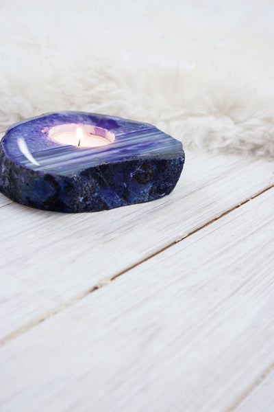 Purple Agate Candle Holder - little-lies-uk