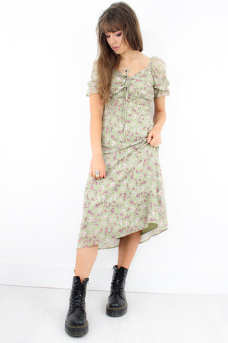 Changes Floral Midi Dress