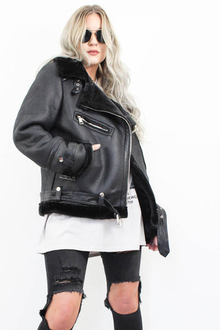 Gimme Shelter Aviator Coat - little-lies-uk