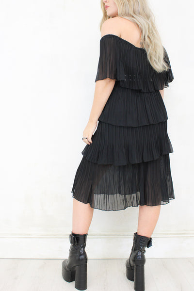 Black Magic Woman Midi Dress