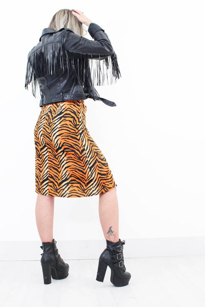 Runnin' Wild Tiger Midi Skirt - little-lies-uk