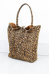 Genuine Suede Leopard Tote - little-lies-uk