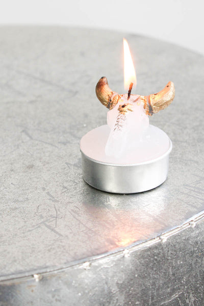 Bison Skull Tea Light Set - little-lies-uk