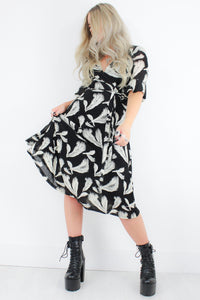 Wings Feather Wrap Dress