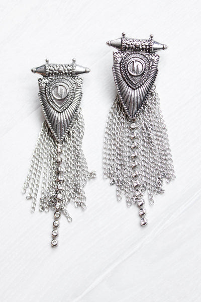 Tribal Chain Earrings  - little-lies-uk