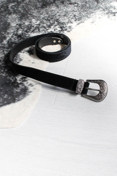 Black Velvet Western Belt - little-lies-uk
