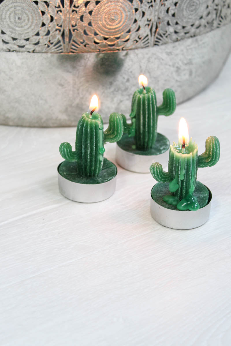 Cactus Tea Light Set - little-lies-uk