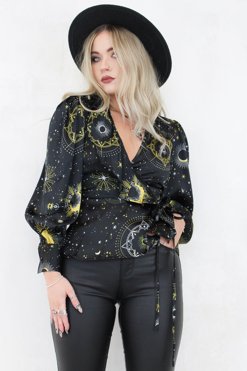 Dark Side Of The Moon Wrap Top