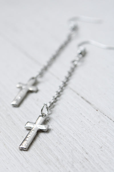 Chain Cross Earrings