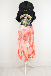 Steal My Sunshine Tie Dye Midi Skirt