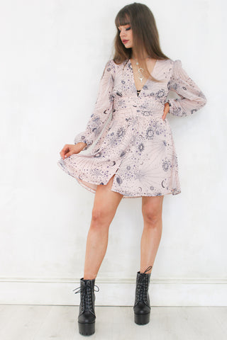 Running From the Moon Mini Dress