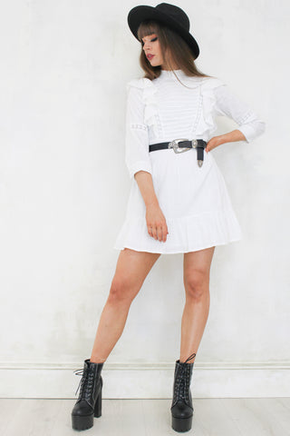 Talihina Sky White Mini Dress
