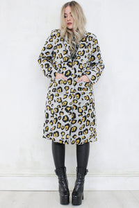 Fascination Yellow Leopard Coat