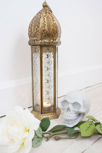 Moroccan Brass Candle Lantern - little-lies-uk