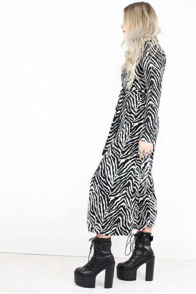 Pretty Vacant Zebra Shirt Dress