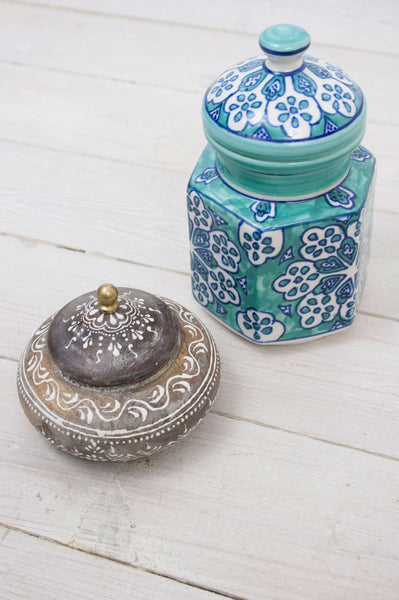 Ceramic Painted Gypsy Jar - little-lies-uk