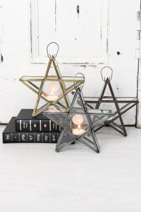 Standing Glass Star Lantern