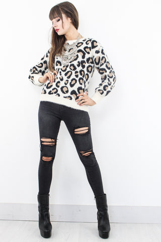 Hungry Heart Leopard Knit