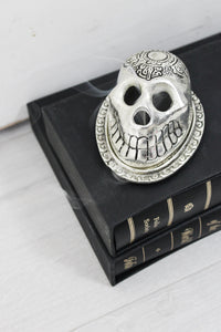 Silver Skull Incense Holder