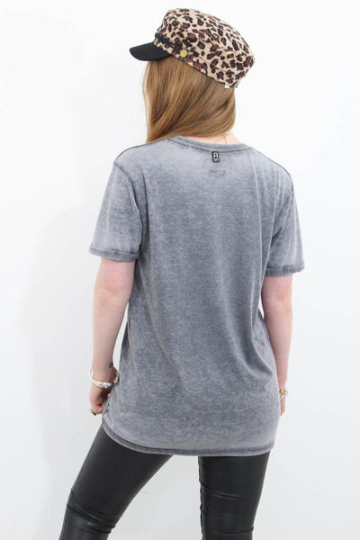 Rolling Stones Grey Marl Tee - little-lies-uk
