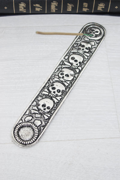 Skull + Crossbones Incense Holder