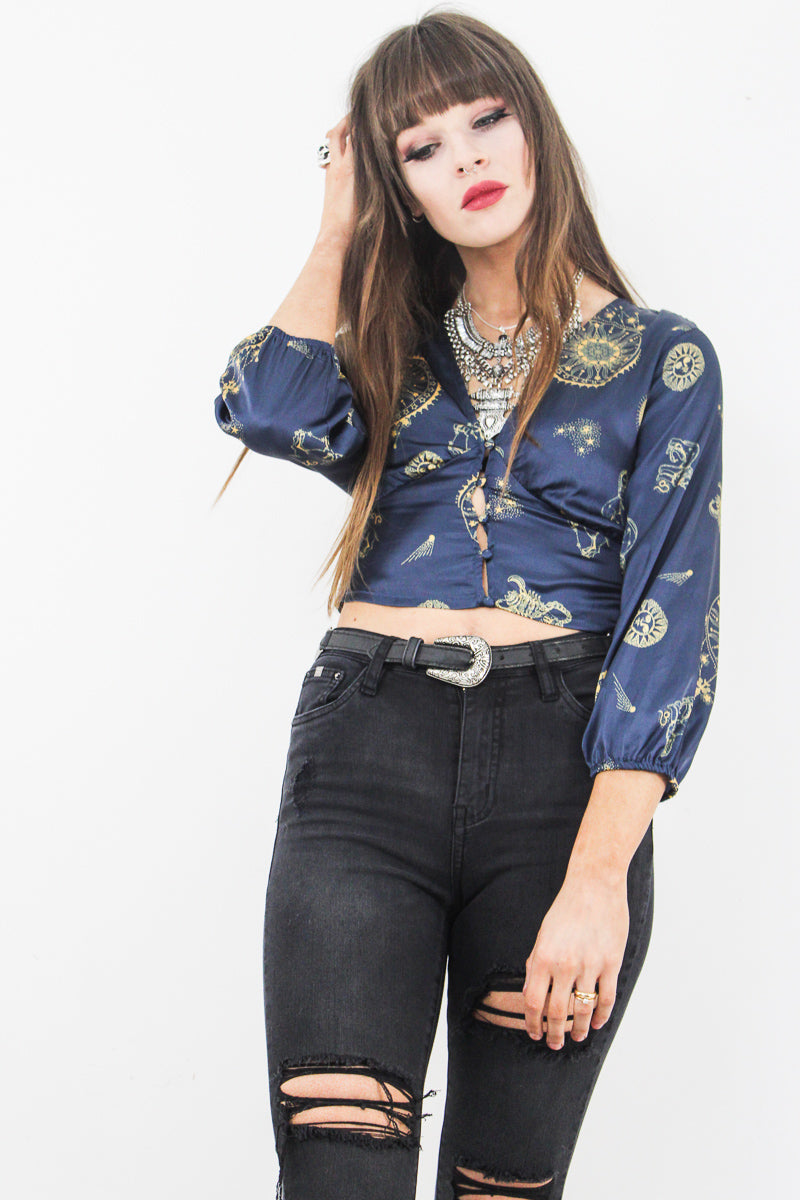 Signs of the Zodiac Cropped Top