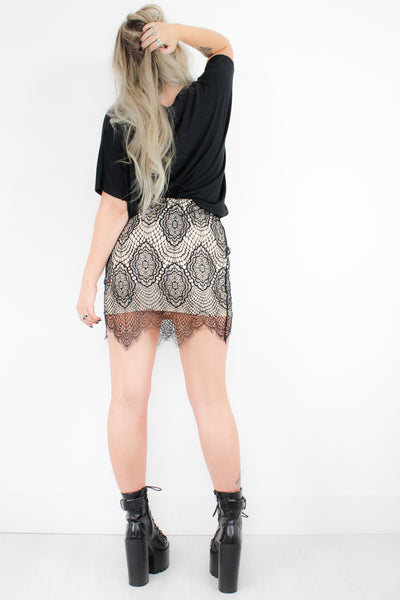 Only People Lace Skirt