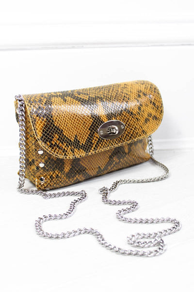 Roxy Snakeskin Bag - little-lies-uk