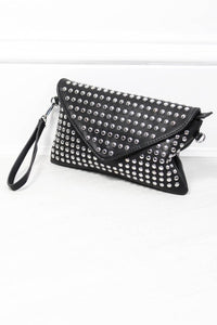 Satisfaction Studded Envelope Clutch - little-lies-uk