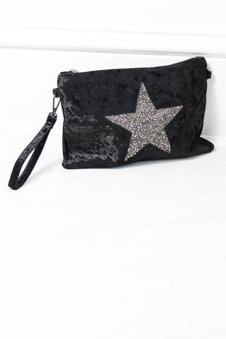 Black Magic Velvet Clutch - little-lies-uk