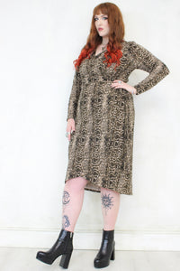 Shakermaker Snake Wrap Dress | PLUS