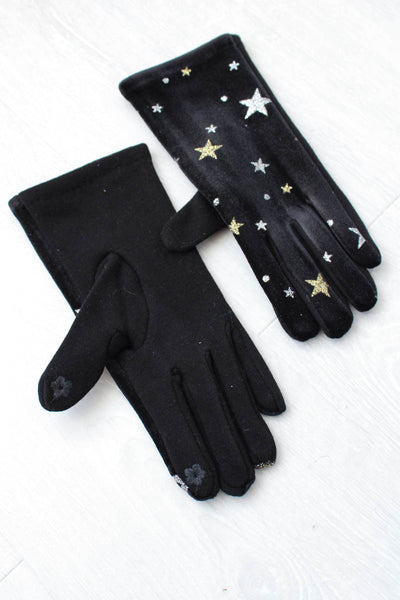 Black Magic Velvet Gloves - little-lies-uk