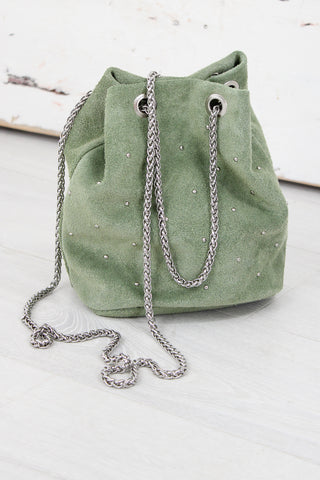 Green River Suede Bucket Bag