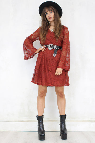 Sultans Of Swing Rust Dress