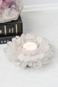 Natural Quartz Mineral Tea Light Holder - little-lies-uk