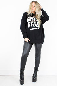 Monochrome 'Rebel Rebel' Jumper