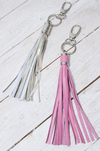 Leather Tassel Keyring - little-lies-uk