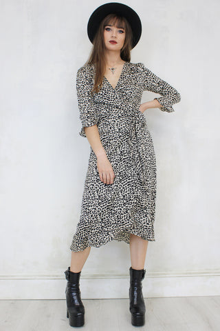 Struttin' Leopard Wrap Dress