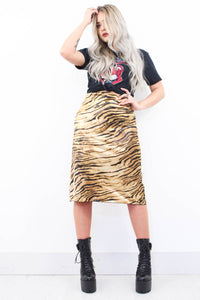 My Obsession Silky Tiger Skirt - little-lies-uk