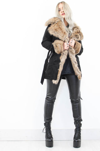 Sugar Mama Suede Coat - little-lies-uk