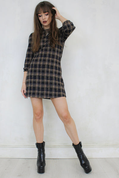 Roll With It Checked Dress