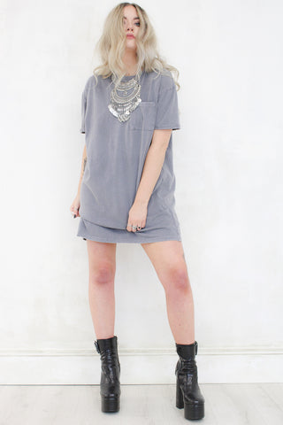 Hell and Back Grey T-Shirt Dress