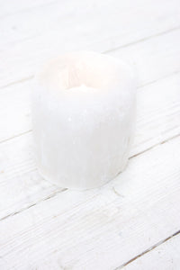 White Selenite Tea Light Holder