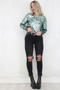 Destiny Rules Sequin Top