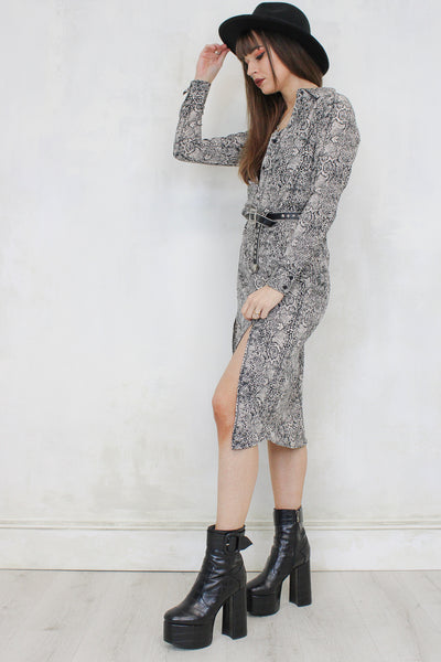 She Power Snake Midi Dress