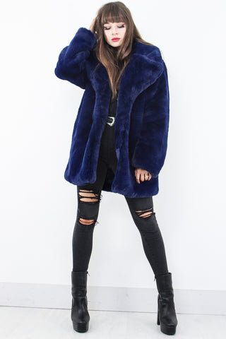 Midnight Sister Faux Fur Coat