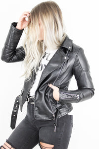 Shadowplay Leather Biker Jacket