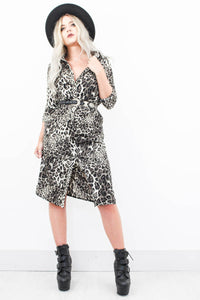 Heaven & Hell Leopard Shirt Dress - little-lies-uk