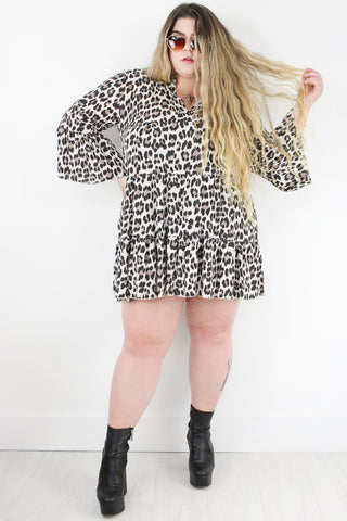 Loving You Leopard Smock Dress