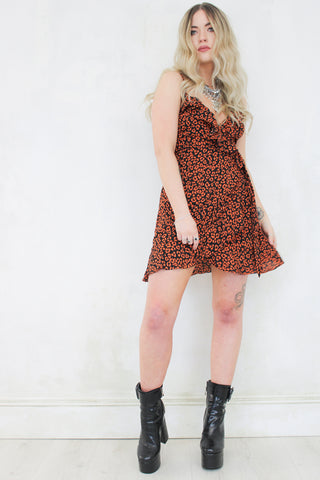 Saint & Sinner Leopard Mini Dress